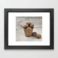 Eat my nuts Framed Art Print