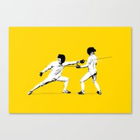 The Duel Canvas Print