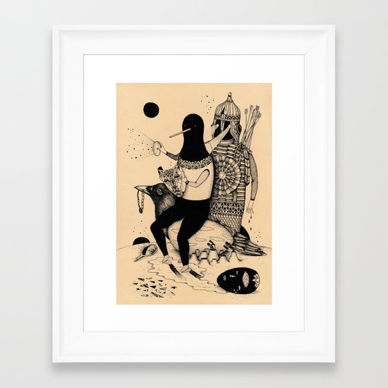 The Thief, The Poet and The Warrior Framed Art Print