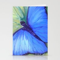 Blue Butterfly: Transfig… Stationery Cards