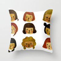 Girls II Throw Pillow