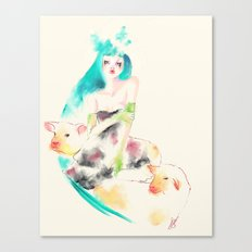 Sheeps Canvas Print