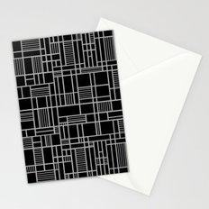Map Lines Silver Stationery Cards