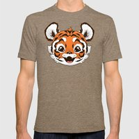 Tiger Mens Fitted Tee Tri-Coffee SMALL