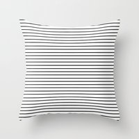 Minimal Stripes Throw Pillow