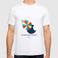Suumer's gone Mens Fitted Tee Ash Grey SMALL