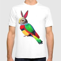 Rabbird Mens Fitted Tee White SMALL