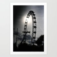 London At Dusk Art Print