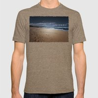 God Must Be An Artist Mens Fitted Tee Tri-Coffee SMALL