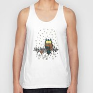 Owl In The Snow V2 Unisex Tank Top