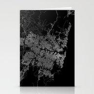 Sydney Map Australia Stationery Cards