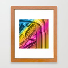 Tape colorful abstraction Framed Art Print