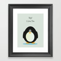 Penguin Love Framed Art Print