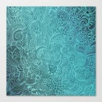 Detailed Zentangle Squar… Canvas Print