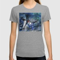 A bird told me... Womens Fitted Tee Tri-Grey SMALL