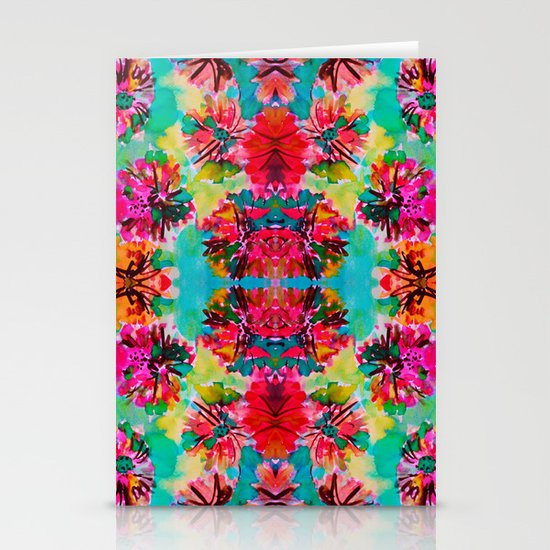 Tropical Floral Stationery Card