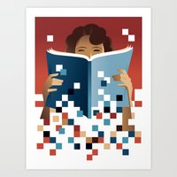 Print To Pixels Art Print