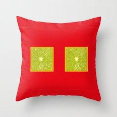 Lime Eyes - Strange Fruits - Living Hell Throw Pillow