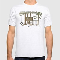 Tree Fort Mens Fitted Tee Ash Grey SMALL