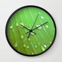 Jungle Drops. Wall Clock