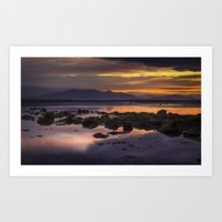 Sunset Over Arran Scotla… Art Print