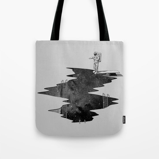 Space Diving Tote Bag