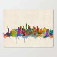 Canvas Print featuring New York City Skyline by ArtPause