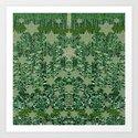 Stars all Over pattern Art Print