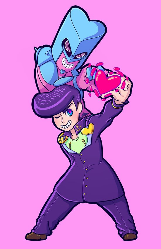 JJBA :: Josuke and Crazy Diamond Ver.1 Art Print