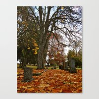 Canvas Print featuring Autumn's end by Vorona Photography