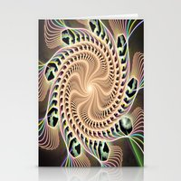 Groovy Vortex Abstract Stationery Cards
