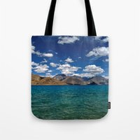Evening Blues...Pangong Lake Tote Bag
