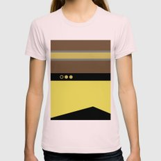 Geordie La Forge - Minim… Womens Fitted Tee Light Pink SMALL