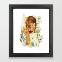 Blaise | Collage Framed Art Print