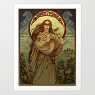 Art Print featuring Mother by Natasa Ilincic