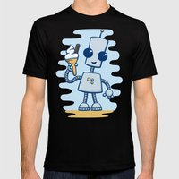 Ned's Ice Cream Mens Fitted Tee Black SMALL