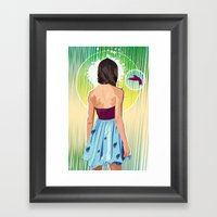 Humming Bird Framed Art Print