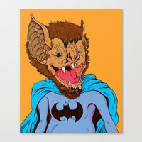 Bat-mania Canvas Print