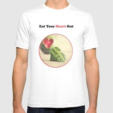 Eat Your Heart Out White SMALL Mens Fitted Tee