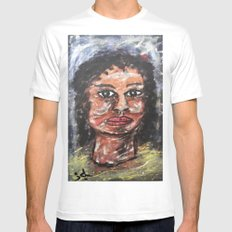 MRS. BROWN Mens Fitted Tee White SMALL