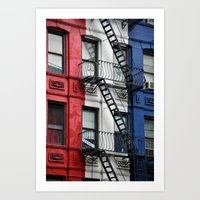 NYC Red White Blue Art Print