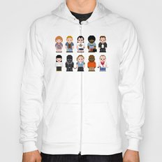Pixel Pulp Fiction Characters Hoody