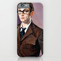 iPhone & iPod Case featuring The Tenth Doctor by Emily Blythe Jones