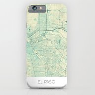 El Paso Map Blue Vintage iPhone 6 Slim Case