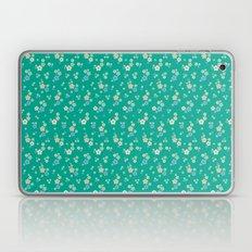 blossom ditsy in emerald Laptop & iPad Skin
