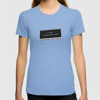 HAPPINESS Womens Fitted Tee Tri-Blue SMALL