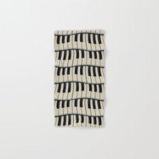 Rock And Roll Piano Keys Hand & Bath Towel