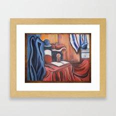 red,white and blue Framed Art Print