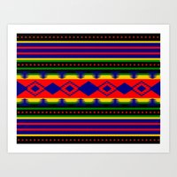 Aztec Summer Art Print