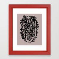 Monster Friends Framed Art Print